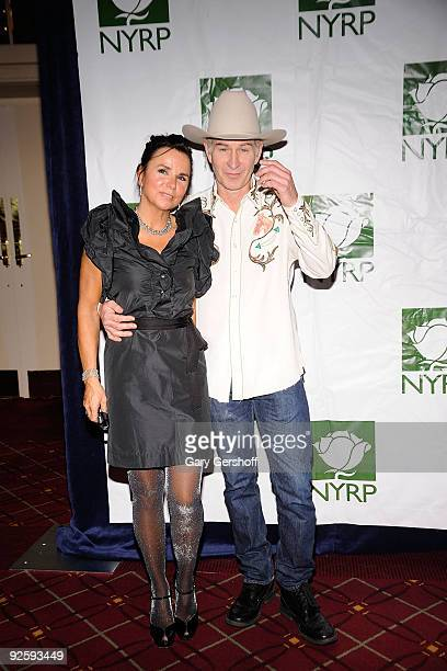 Singer Patti Smyth and husband television personality John McEnroe attend the 14th Annual Bette Midler's New York Restoration Project's Hulaween at...