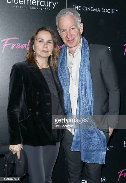 Singer Patty Smyth and John McEnroe attend the premiere of IFC Films' 'Freak Show' hosted by The Cinema Society and Bluemercury at Landmark Sunshine...