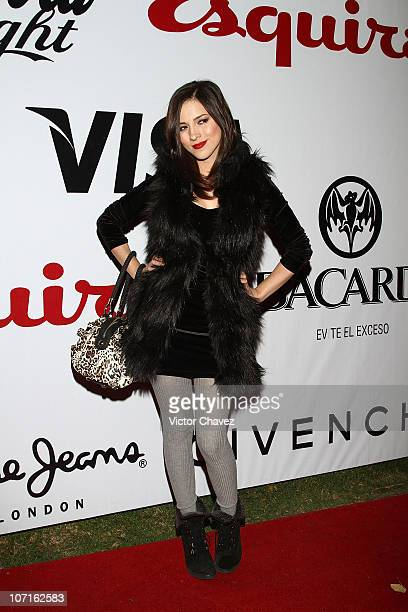 Singer Paty Cantu attends the Esquire Mexico Magazine 2nd Anniversary Masquerade Party at Reforma 423 on November 25 2010 in Mexico City Mexico