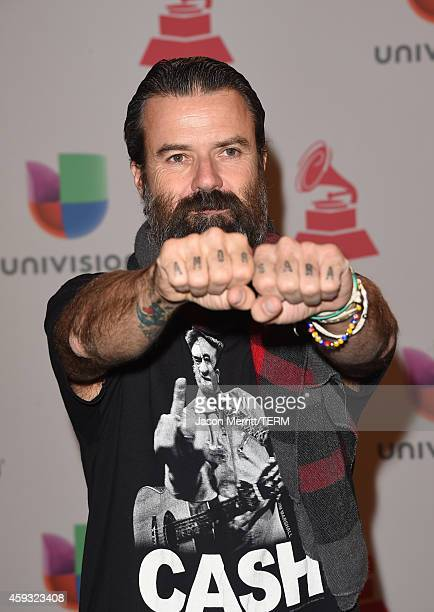 Singer Pau Dones of Jarabe de Palo attends the 15th Annual Latin GRAMMY Awards at the MGM Grand Garden Arena on November 20 2014 in Las Vegas Nevada