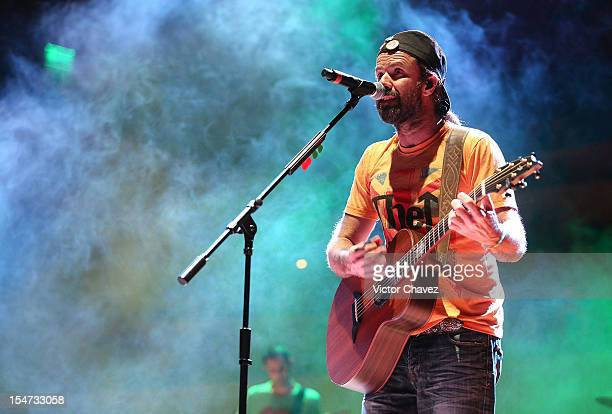 Singer Pau Dones of Jarabe de Palo performs onstage at Centro Cultural Roberto Cantoral in Mexico City on October 24 2012 in Mexico City Mexico