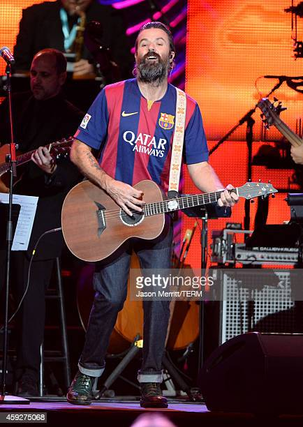Singer Pau Dones of Jarabe de Palo performs onstage during the 2014 Person of the Year honoring Joan Manuel Serrat at the Mandalay Bay Events Center...