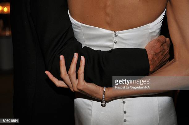 ACCESS*** Singer Paul Anka and Anna Anka hold each other during their wedding at Hotel Cala di Volpe on July 26 2008 in Porto Cervo Sardinia Italy