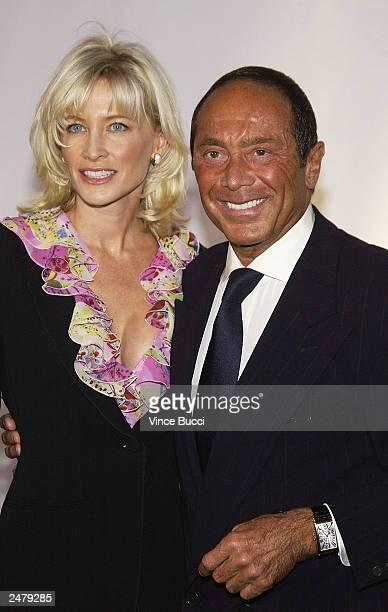 Singer Paul Anka and friend attend the inaugural 'Rodeo Drive Walk of Style' event honoring designer Giorgio Armani on September 9 2003 in Beverly...