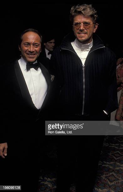 Singer Paul Anka and musician Peter Cetera attending 'Songwriters Hall Of Fame Induction Gala' on June 2 1993 at the Sheraton New York Hotel in New...