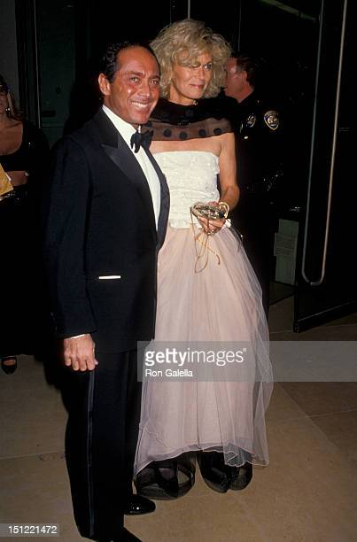 Singer Paul Anka and wife Anne DeZogheb attending Carousel Of Hope Ball Benefit on October 26 1990 at the Beverly Hilton Hotel in Beverly Hills...