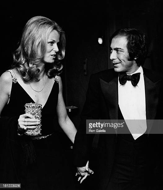 Singer Paul Anka and wife Anne DeZogheb attending Legends Fashion Show on November 5 1974 at the Waldorf Hotel in New York City New York