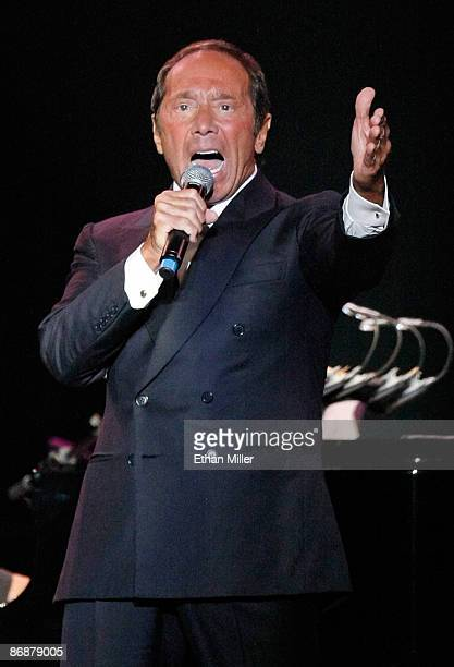 Singer Paul Anka performs during the Hit Man David Foster and Friends concert at the Mandalay Bay Events Center May 9 2009 in Las Vegas Nevada