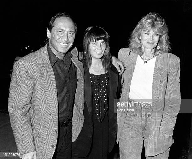 Singer Paul Anka wife Anne DeZogheb and daughter sighted on March 22 1989 at Spago Restaurant in West Hollywood California