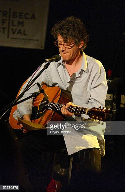 Singer Paul Buchanan performs during the Tribeca Film Festival Music Panel at The ASCAP Lounge. The ASCAP Music Lounge is dedicated to showcasing the...