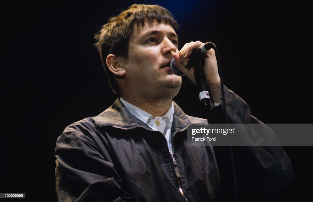 Singer Paul Heaton of The Beautiful South performs on stage at the Fleadh held in Finsbury Park, London on June 10, 1995.