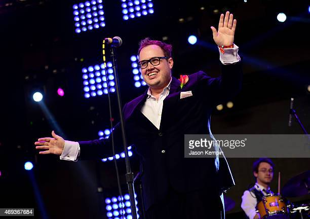 Singer Paul Janeway of St Paul and the Broken Bones performs onstage during day 2 of the 2015 Coachella Valley Music Arts Festival at the Empire Polo...