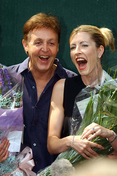 Singer Paul McCartney And Model Heather Mills Announce Their Engagement July 27 2001 In St