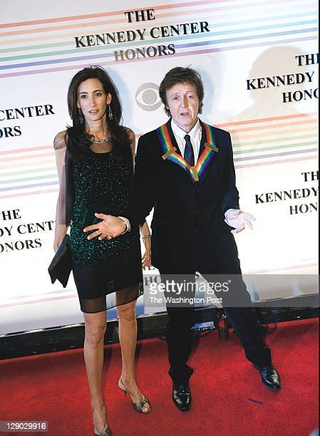 Singer Paul McCartney With Date Nancy Shevell On The Red Carpet At Annual Kennedy Center