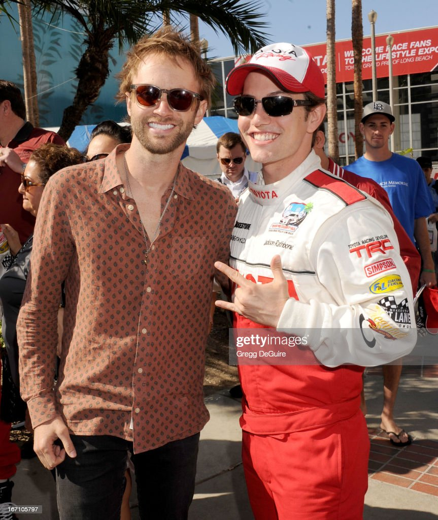 Singer Paul McDonald and actor Jackson Rathbone attend the 37th Annual Toyota Pro/Celebrity Race on April 20, 2013 in Long Beach, California.