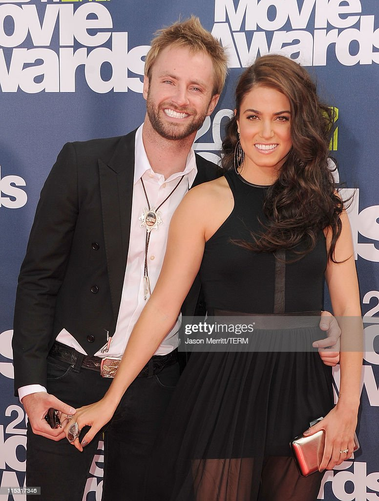 Singer Paul McDonald and actress Nikki Reed arrive at the 2011 MTV Movie Awards at Universal Studios' Gibson Amphitheatre on June 5, 2011 in Universal City, California.