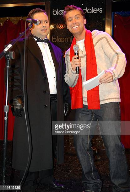 Singer Paul Potts and Singer Lance Bass Open Bloomingdale's Holiday Windows on November 192007 in New York City New York