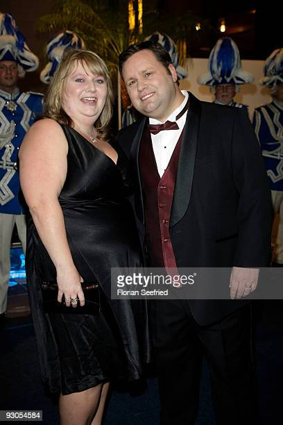 Singer Paul Potts and wife Julie-Ann attend the Unesco Charity Gala 2009 at the Maritim Hotel on November 14, 2009 in Dusseldorf, Germany.