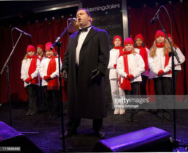Singer Paul Potts Opens Bloomingdale's Holiday Windows on November 192007 in New York City New York