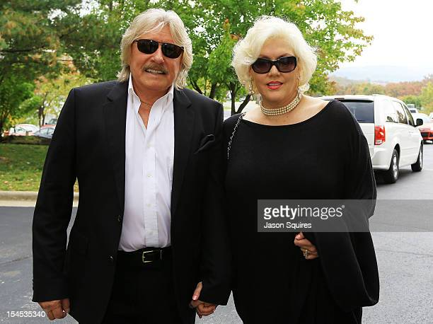 Singer Paul Revere and wife Sydney Revere attend a memorial service for entertainer Andy Williams on October 21 2012 in Branson Missouri Williams...