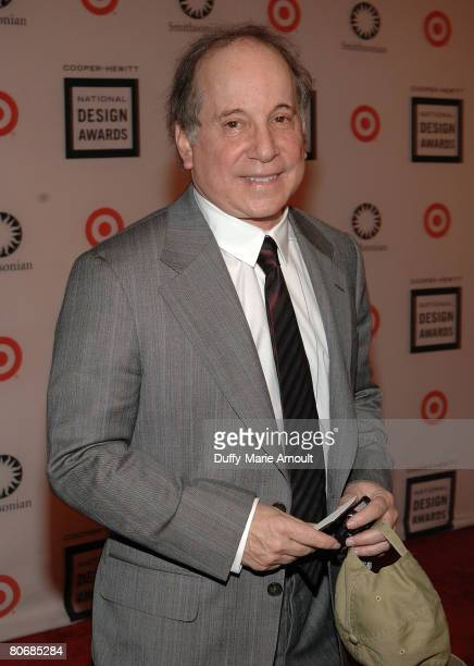 """Singer Paul Simon attends the 2007 National Design Awards Gala hosted by Euardo Xol from ABC's """"Extreme Makeover: Home Edition"""" at the Smithsonian's..."""