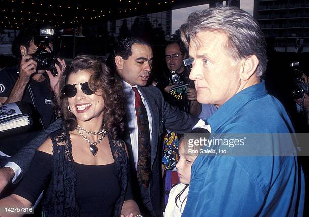 Singer Paula Abdul actor Martin Sheen and granddaughter Cassandra Sheen attend the 'Home Alone 2 Lost in New York' Century City Premiere on November...