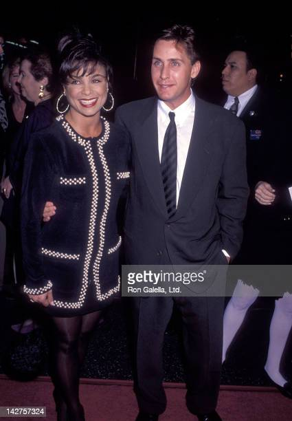 Singer Paula Abdul and actor Emilio Estevez attend the 'Freejack' Hollywood Premiere on January 16 1992 at the Mann's Chinese Theatre in Hollywood...