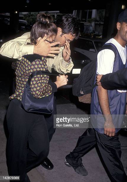 Singer Paula Abdul and husband Brad Beckerman arrive from New York City on June 12 1997 at the Los Angeles International Airport in Los Angeles...