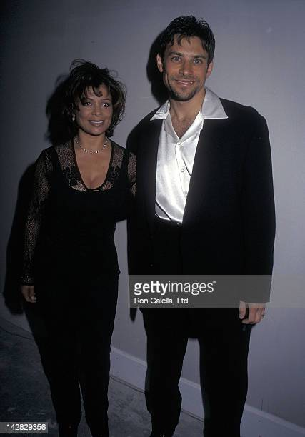 Singer Paula Abdul and husband Brad Beckerman attend the Launch Party for Gucci's New Perfume Gucci Envy on April 28 1997 at Trump International...