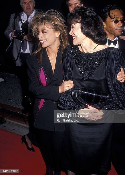 Singer Paula Abdul and mother Lorraine Rykiss attend the 16th Annual People's Choice Awards on March 11 1990 at Universal Studios in Universal City...