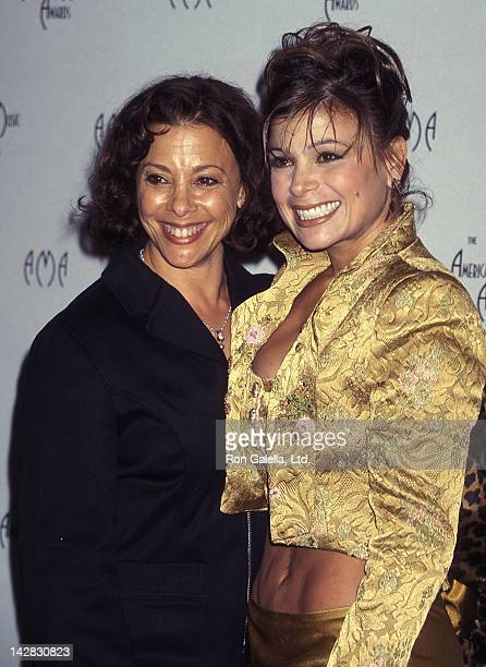 Singer Paula Abdul and mother Lorraine Rykiss attend the 24th Annual American Music Awards on January 27 1997 at the Shrine Auditorium in Los Angeles...