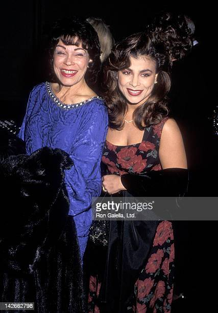 Singer Paula Abdul and mother Lorraine Rykiss attend the Sixth Annual Television Academy Hall of Fame Induction Ceremony on January 7 1990 at 20th...