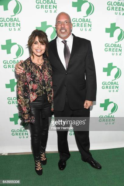 Singer Paula Abdul and President CEO Global Green USA Les McCabe attend the 14th Annual Global Green Pre Oscar Party at TAO Hollywood on February 22...
