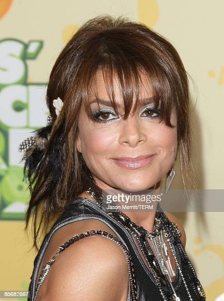Singer Paula Abdul arrives at Nickelodeon's 2009 Kids' Choice Awards at UCLA's Pauley Pavilion on March 28 2009 in Westwood California