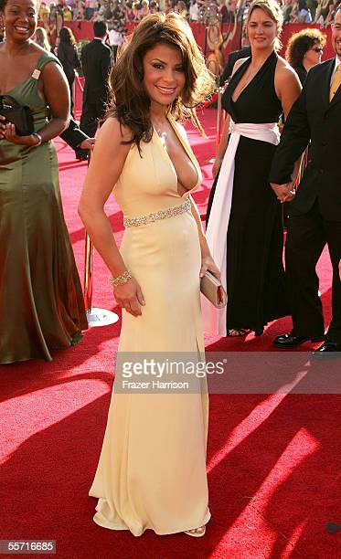 Singer Paula Abdul arrives at the 57th Annual Emmy Awards held at the Shrine Auditorium on September 18 2005 in Los Angeles California