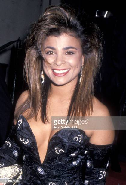 Singer Paula Abdul attends the 16th Annual American Music Awards on January 30 1989 at the Shrine Auditorium in Los Angeles California