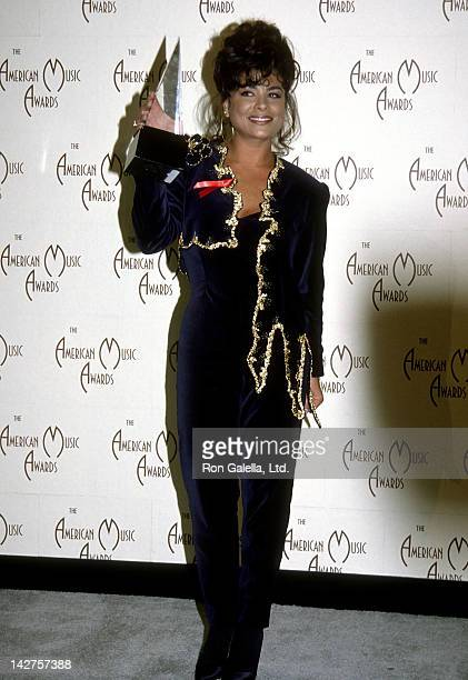 Singer Paula Abdul attends the 19th Annual American Music Awards on January 27 1992 at the Shrine Auditorium in Los Angeles California