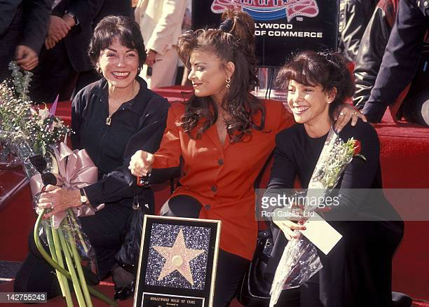 Singer Paula Abdul mother Lorraine Rykiss and sister Wendy Mandel attend the Hollywood Walk of Fame Star Ceremony for Paula Abdul on December 4 1991...