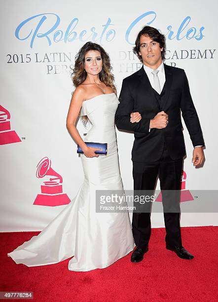 Singer Paula Fernandes and Henrique Do Valle attend the 2015 Latin GRAMMY Person of the Year honoring Roberto Carlos at the Mandalay Bay Events...