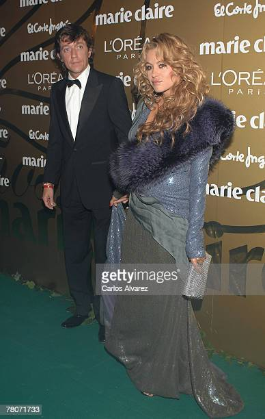Singer Paulina Rubio and husband Nicolas Colate Vallejo Najera attend the 5th Marie Claire Magazine Awards at the French Embassy November 22 2007 in...