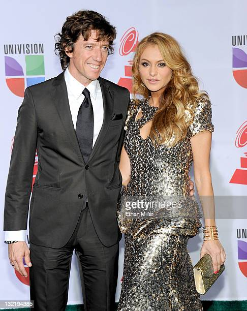 Singer Paulina Rubio and Nicolas VallejoNajera arrive at the 12th annual Latin GRAMMY Awards at the Mandalay Bay Resort Casino on November 10 2011 in...