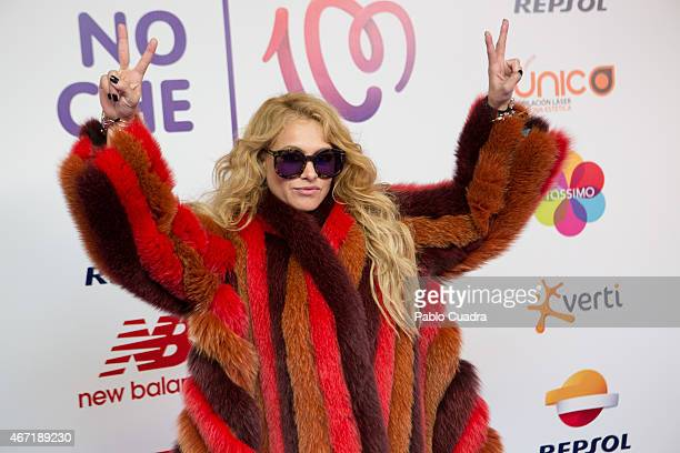 Singer Paulina Rubio attends 'Cadena 100 por Etiopia' gala at Barclaycard Center on March 21 2015 in Madrid Spain
