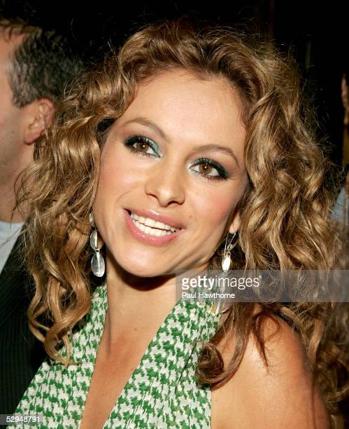 Singer Paulina Rubio attends People En Espanol's 4th Annual 50 Most Beautiful Gala at Capitale May 18 2005 in New York City