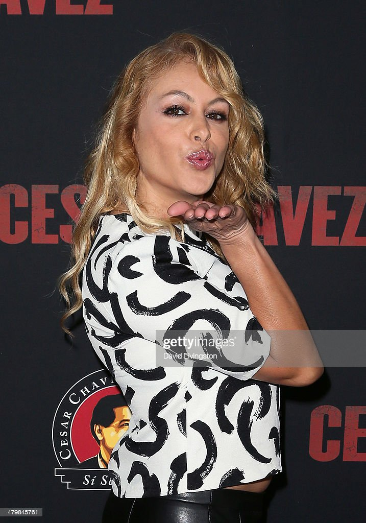 Singer Paulina Rubio attends the premiere of Pantelion Films and Participant Media's 'Cesar Chavez' at TCL Chinese Theatre on March 20, 2014 in Hollywood, California.