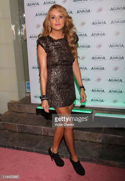 Singer Paulina Rubio attends the Tequila RSV Agavia launch party at Parada 54 on May 18 2011 in Mexico City Mexico
