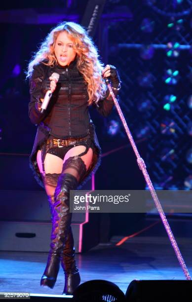 Singer Paulina Rubio performs at Gusman Center for the Performing Arts on October 30 2009 in Miami Florida