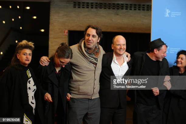 Singer Peaches Nina Rhode Chilly Gonzales Philipp Jedicke and guests attend the 'Shut Up and Play the Piano' premiere during the 68th Berlinale...