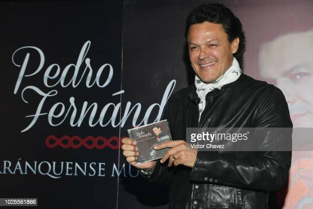 Singer Pedro Fernandez attends a press conference to promote his new album Arranquense Muchachos at Sony Music on August 31 2018 in Mexico City Mexico
