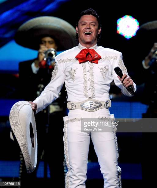 Singer Pedro Fernandez performs onstage during the 11th annual Latin GRAMMY Awards at the Mandalay Bay Events Center on November 11 2010 in Las Vegas...
