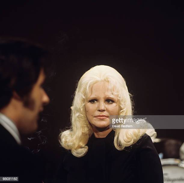 Singer Peggy Lee on set of the CBS Louis Armstrong tribute television show filmed on July 09 1971